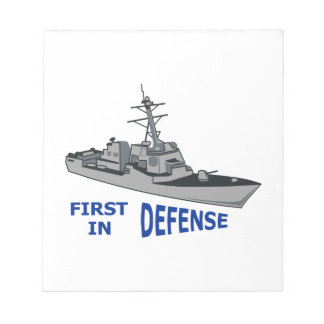 First In Defense Notepads