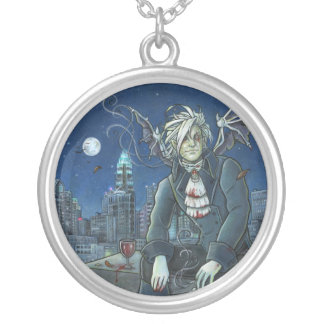 First in flight Vampire Round Necklace