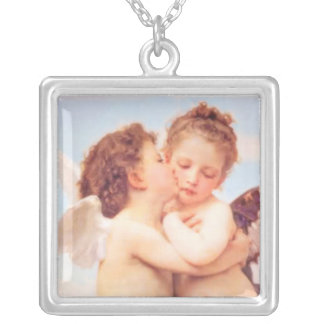 First Kiss Silver Plated Necklace