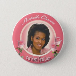 First Lady 2 Inch Round Button