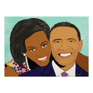 First lady and president Obama canvas Print