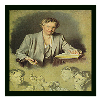 First Lady Anna Eleanor Roosevelt Poster