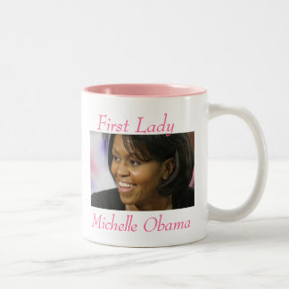 First Lady  Michelle Obama - Customized Two-Tone Coffee Mug