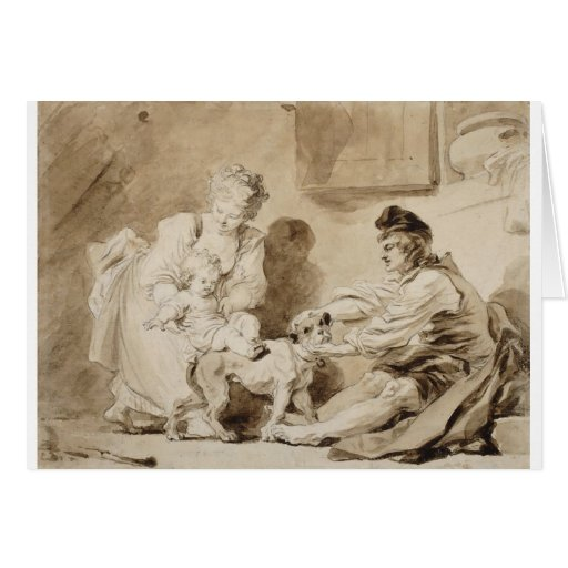 First Lesson of Horse Riding by Fragonard Cards