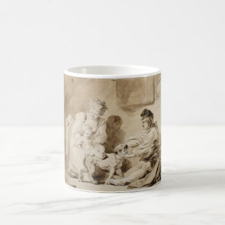 First Lesson of Horse Riding by Fragonard Classic White Coffee Mug