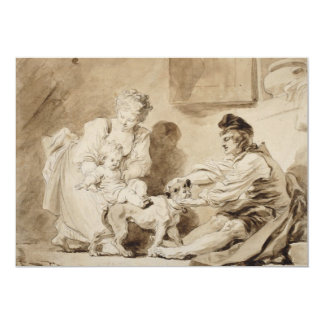 First Lesson of Horse Riding by Fragonard Custom Announcements