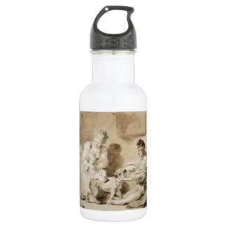 First Lesson of Horse Riding by Fragonard 18oz Water Bottle