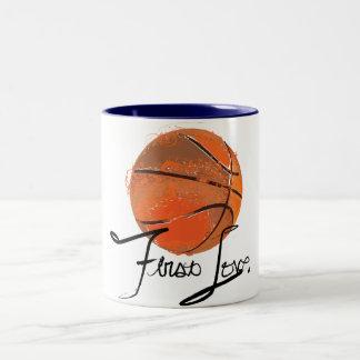 First Love: Basketball Two-Tone Coffee Mug