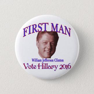 First Man 2 Inch Round Button