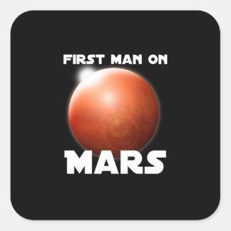 First Man on Mars Square Sticker