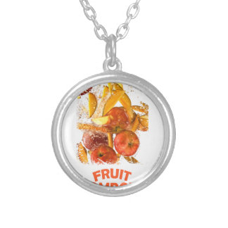 First March - Fruit Compote Day - Appreciation Day Silver Plated Necklace