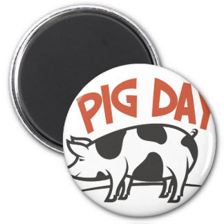 First March - Pig Day 2 Inch Round Magnet