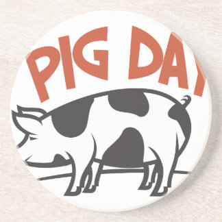 First March - Pig Day Coaster