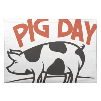 First March - Pig Day Placemat