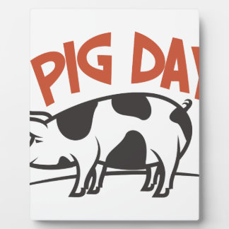 First March - Pig Day Plaque