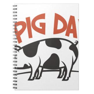 First March - Pig Day Spiral Notebook