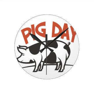 First March - Pig Day Wallclock