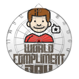 First March - World Compliment Day Dartboard With Darts