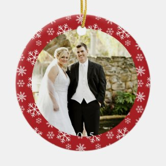 First Married Christmas snowflakes ornament