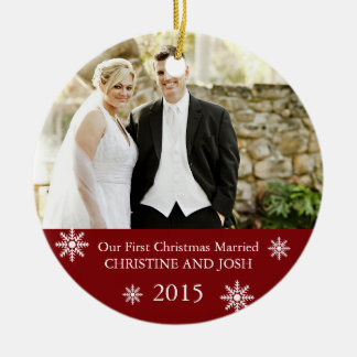 First Married Customizable Christmas ornament