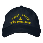First mate custom yacht crew baseball cap