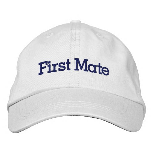 First Mate Hat Embroidered Hats