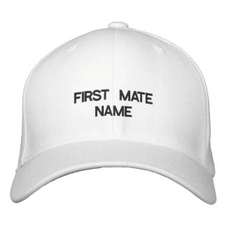 FIRST MATE NAME HAT