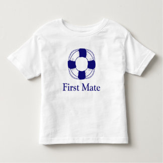 First Mate with Life Preserver Toddler T-shirt
