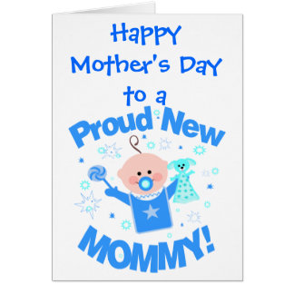 First Mother s Day Greeting Card baby boy