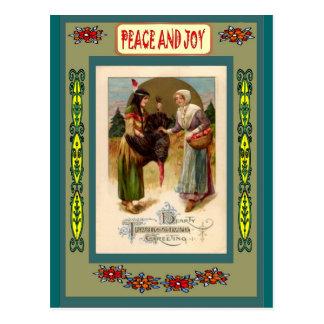 First Nation friends Postcard
