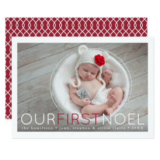 First Noel   Baby's First Christmas Photo Card
