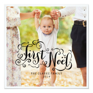 FIRST NOEL | MODERN CHIC HOLIDAY PHOTO CARD