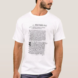 First page of 'Discours de la Methode' by Rene T-Shirt