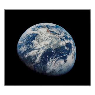 First photograph of the Earth taken by the Man Poster