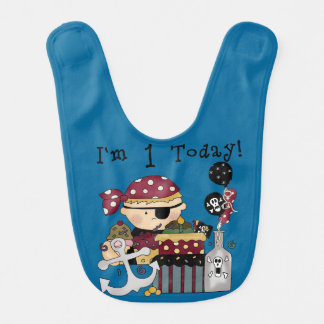 First Pirate Birthday Bib