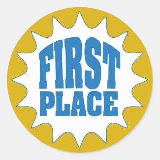 First Place Award Round Sticker