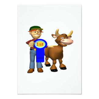 """First Place Cattle Prize 5"""" X 7"""" Invitation Card"""