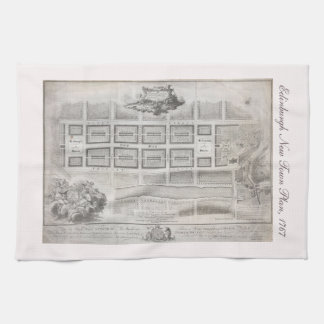 First plan of New Town, Edinburgh 1767 Kitchen Towel