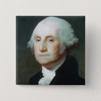 First President: George Washington 2 Inch Square Button