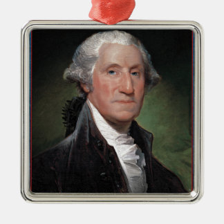 First President: George Washington Metal Ornament