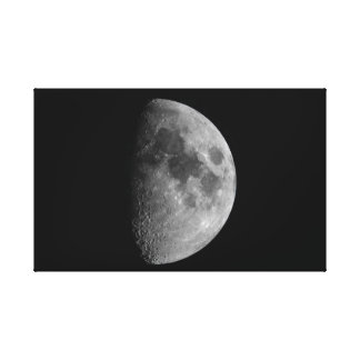 First Quarter Phase of the Moon Canvas Print
