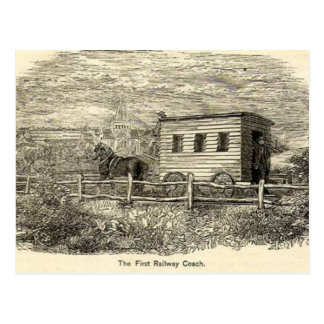 First Railway Coach Postcard