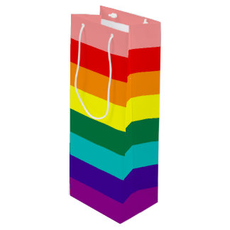 First Rainbow Pride Flag Wine Gift Bag
