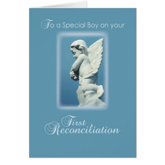 First Reconciliation Card for Catholic Boy, Angel