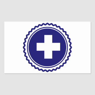 First Responder Blue Health Care Cross Sticker
