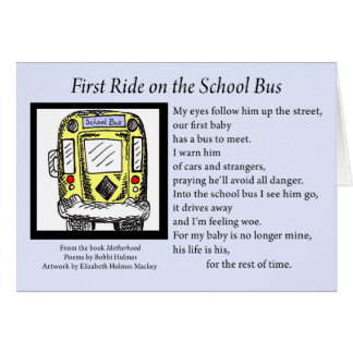 First Ride on the School Bus Greeting Card