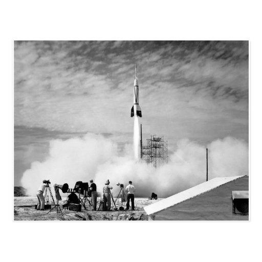 "First Rocket Launch, Cape Canaveral, ""Bumper 2"" Postcard"