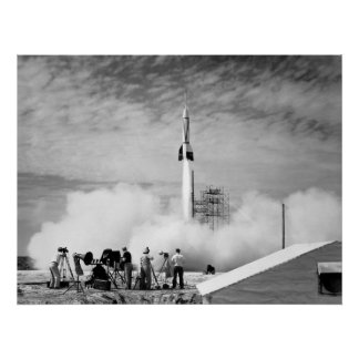 """First Rocket Launch, Cape Canaveral, """"Bumper 2"""" Poster"""