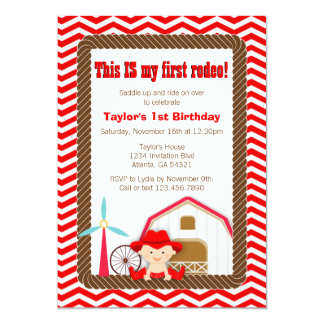 First Rodeo Birthday Invitation