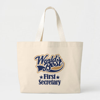 First Secretary Gift For (Worlds Best) Tote Bags